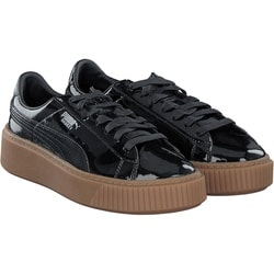 Puma - Basket Platform Pat. in schwarz