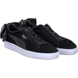 Puma - Suede Bow in Schwarz