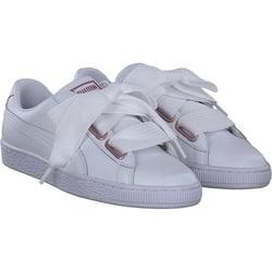 Puma - Basket Heart in Weiß