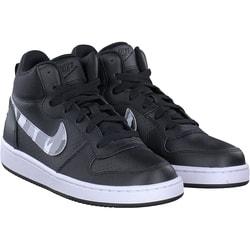 Nike - Court borough mid GS in Schwarz