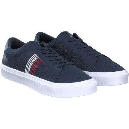 Tommy Hilfiger - Stripes Knit Sneaker in blau