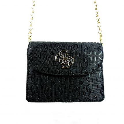 Guess - Chic Shine Mini Crossbody Flap in schwarz