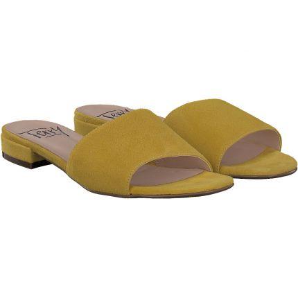 Terry - Pantolette in gelb