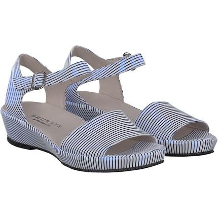 Brunate - Sandale in Weiß / Blau