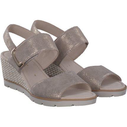 Gabor - Sandale in silber