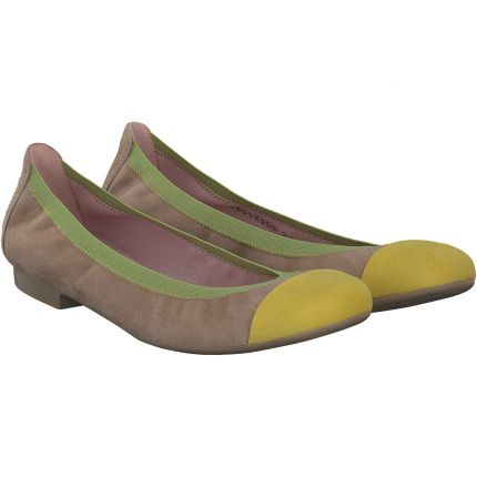 Pretty Ballerinas - Ballerina in beige/gelb /grün