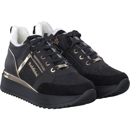 Baldinini - Sneaker in schwarz/gold