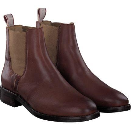 Gant Damen Schuhe Stiefelette Chelsea Boot Fay aus Leder   lilado