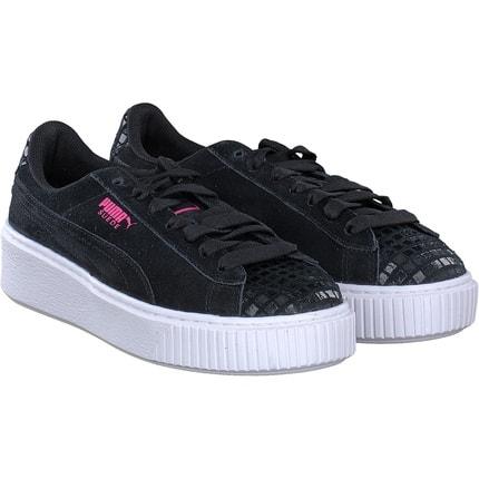 Puma - Suede Platform in schwarz