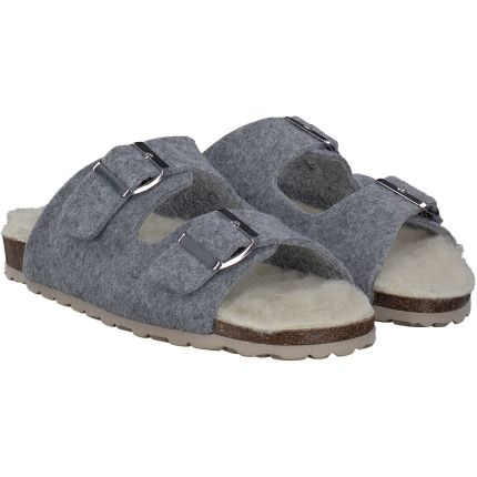 Terry - Hausschuhe in grau